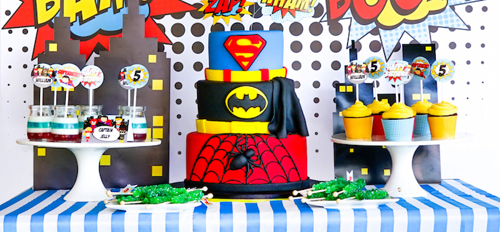 Superhero Birthday Party on Kara's Party Ideas | KarasPartyIdeas.com (1)