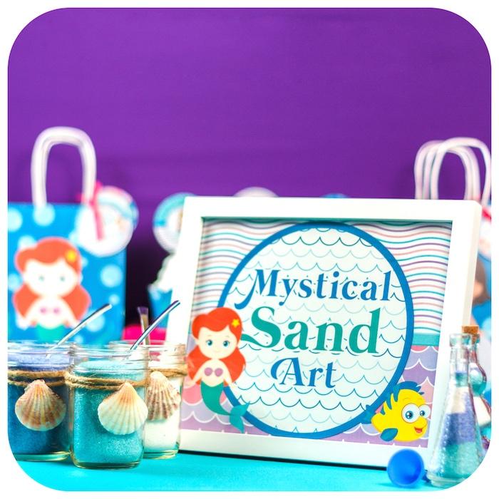 Magical Sand Art from a Sweet Little Mermaid Birthday Party on Kara's Party Ideas | KarasPartyIdeas.com (19)