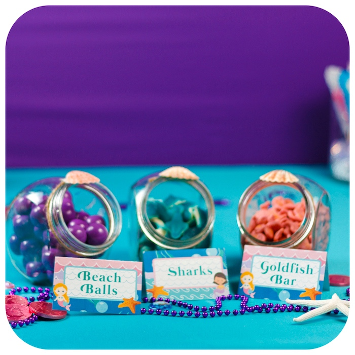 Candy favors from a Sweet Little Mermaid Birthday Party on Kara's Party Ideas | KarasPartyIdeas.com (9)