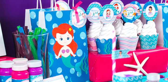 Sweet Little Mermaid Birthday Party on Kara's Party Ideas | KarasPartyIdeas.com (3)