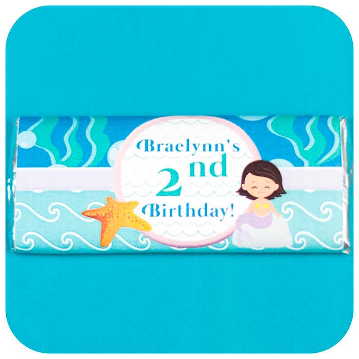 Mermaid chocolate bar from a Sweet Little Mermaid Birthday Party on Kara's Party Ideas | KarasPartyIdeas.com (30)
