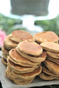 Mini pancakes from a Tea for Two Garden Party on Kara'a Party Ideas | KarasPartyIdeas.com (16)