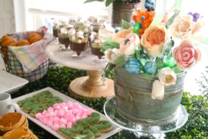 Bloom cake from a Tea for Two Garden Party on Kara'a Party Ideas | KarasPartyIdeas.com (13)