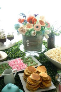 Tin can flower cake from a Tea for Two Garden Party on Kara'a Party Ideas | KarasPartyIdeas.com (6)