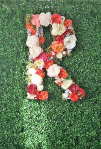 Floral R monogram from a Tea for Two Garden Party on Kara'a Party Ideas | KarasPartyIdeas.com (19)