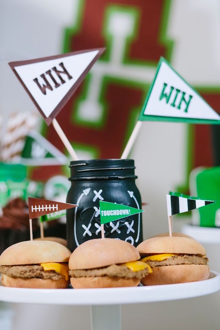 Game-play mason jar from a Vintage Meets Modern Football Birthday Party on Kara's Party Ideas | KarasPartyIdeas.com (31)
