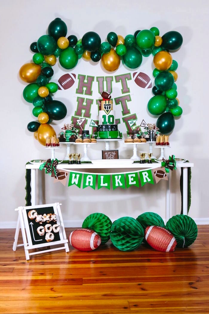 Kara S Party Ideas Vintage Meets Modern Football Birthday Party