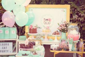 Whimsical Shabby Chic Cat Themed Birthday Party on Kara's Party Ideas | KarasPartyIdeas.com (31)