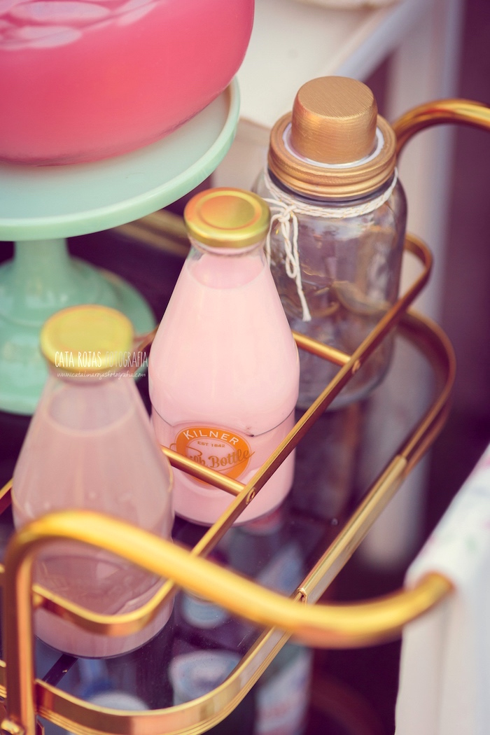 Drink bottles from a Whimsical Shabby Chic Cat Themed Birthday Party on Kara's Party Ideas | KarasPartyIdeas.com (30)
