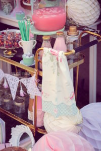 Drink cart from a Whimsical Shabby Chic Cat Themed Birthday Party on Kara's Party Ideas | KarasPartyIdeas.com (29)