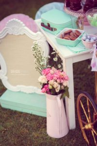 Blooms from a Whimsical Shabby Chic Cat Themed Birthday Party on Kara's Party Ideas | KarasPartyIdeas.com (28)