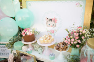 Cake + sweets from a Whimsical Shabby Chic Cat Themed Birthday Party on Kara's Party Ideas | KarasPartyIdeas.com (24)