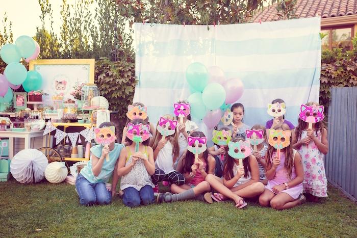Whimsical Shabby Chic Cat Themed Birthday Party on Kara's Party Ideas | KarasPartyIdeas.com (12)
