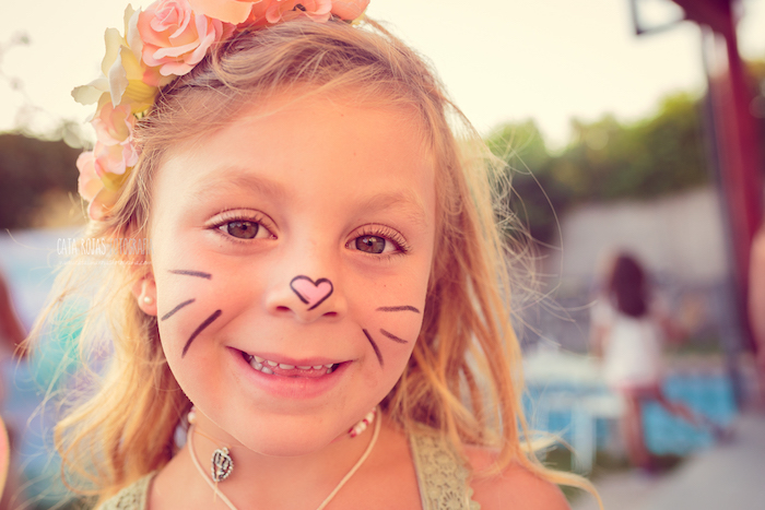 Kitten face from a Whimsical Shabby Chic Cat Themed Birthday Party on Kara's Party Ideas | KarasPartyIdeas.com (10)