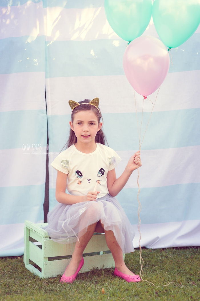 Whimsical Shabby Chic Cat Themed Birthday Party on Kara's Party Ideas | KarasPartyIdeas.com (33)