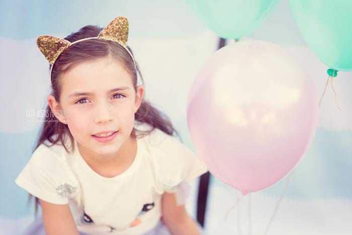 Glitter cat ears from a Whimsical Shabby Chic Cat Themed Birthday Party on Kara's Party Ideas | KarasPartyIdeas.com (32)