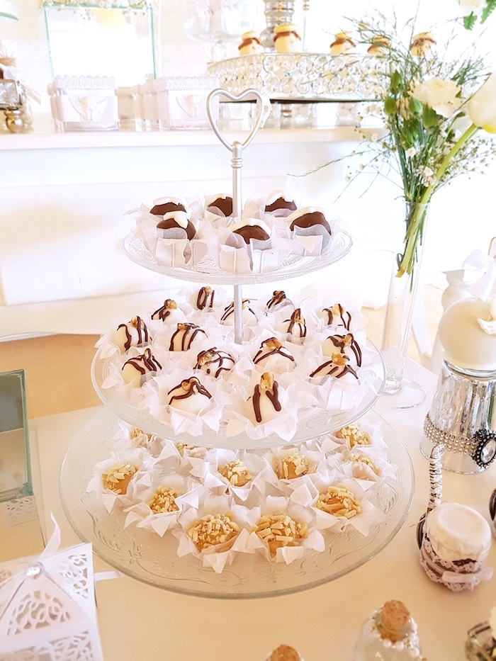 Truffles + treats from a White Angel Baptism Party on Kara's Party Ideas | KarasPartyIdeas.com (14)