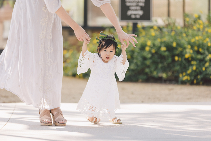 White dress from a Wildflower First Birthday Party on Kara's Party Ideas | KarasPartyIdeas.com (13)