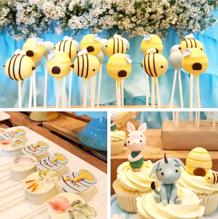 Winnie the Pooh sweets from a Winnie the Pooh Birthday Party on Kara's Party Ideas | KarasPartyIdeas.com (10)