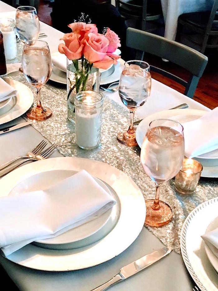 Place setting from a Winter ONEderland First Birthday Party on Kara's Party Ideas | KarasPartyIdeas.com (19)