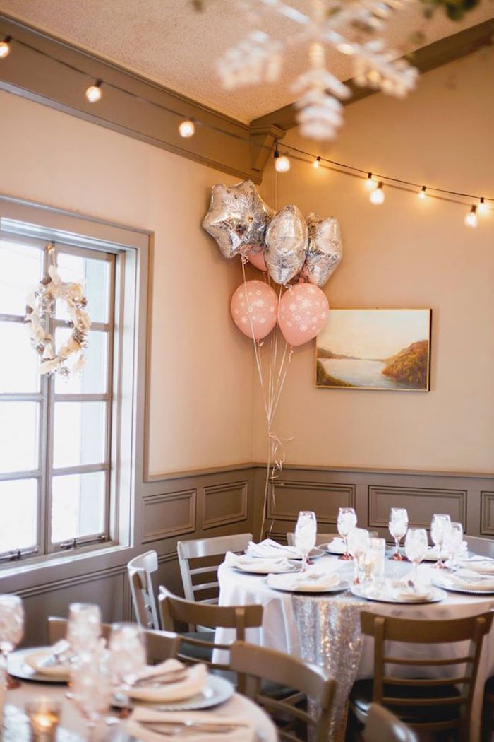 Guest Table From A Winter ONEderland First Birthday Party On Karas Ideas
