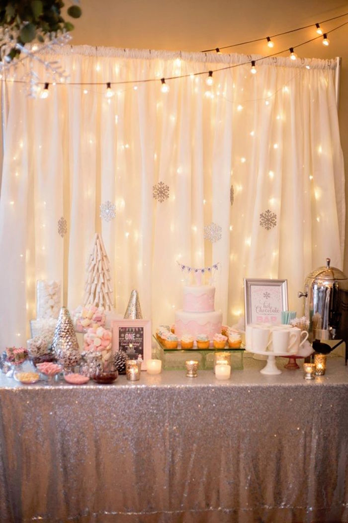 White House Decorations 2017 >> Kara's Party Ideas Winter ONEderland First Birthday Party | Kara's Party Ideas