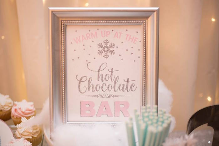 Chocolate Bar print from a Winter ONEderland First Birthday Party on Kara's Party Ideas | KarasPartyIdeas.com (5)
