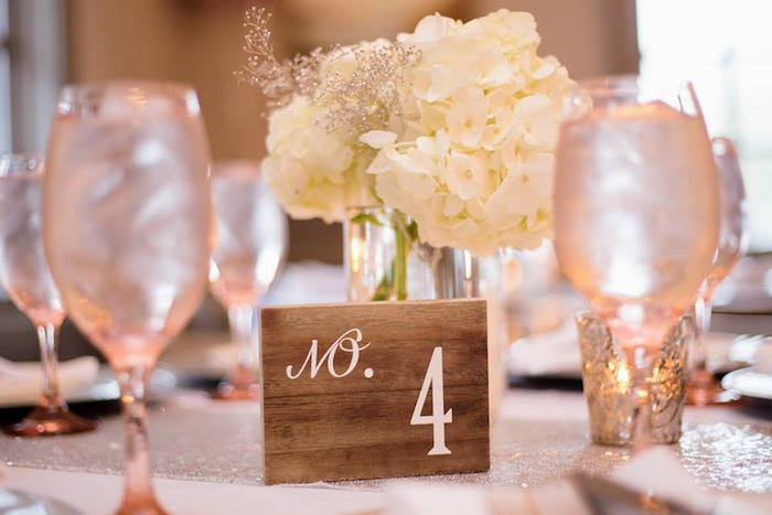 Wood block table number from a Winter ONEderland First Birthday Party on Kara's Party Ideas | KarasPartyIdeas.com (34)