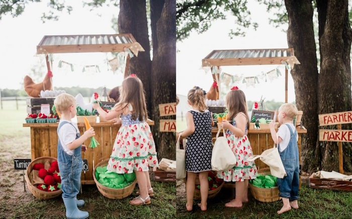 Farmer's Market Birthday Party on Kara's Party Ideas | KarasPartyIdeas.com