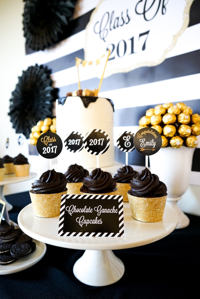 Kara S Party Ideas Quot Be Bold Quot Black Amp Gold Graduation Party