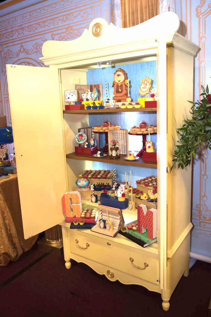 "Wardrobe from a ""Be Our Guest"" Beauty and the Beast Birthday Party on Kara's Party Ideas 