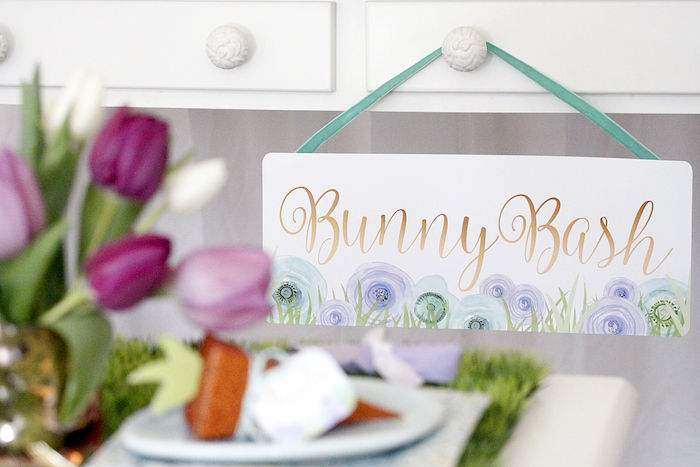 "Bunny Bash sign from a ""Bunny Bash"" Easter Party for Kids on Kara's Party Ideas 