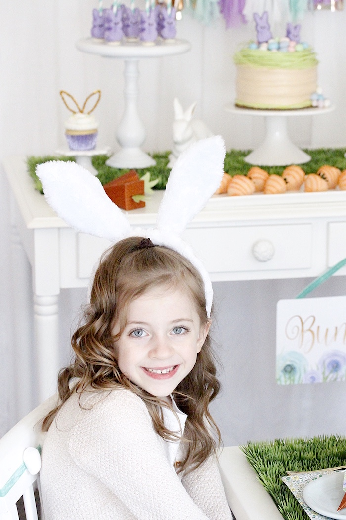 "Bunny Ears from a ""Bunny Bash"" Easter Party for Kids on Kara's Party Ideas 