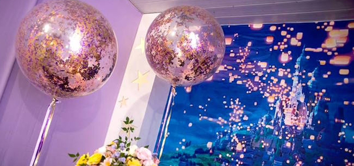 """Floating Lanterns Gleam"" Tangled Birthday Party on Kara's Party Ideas 