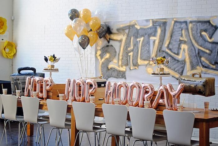 Kara S Party Ideas Hip Hop Hooray Old School Rapper Birthday Party
