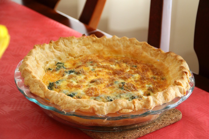 "Quiche from a ""Madeline in Paris"" Birthday Party on Kara's Party Ideas 