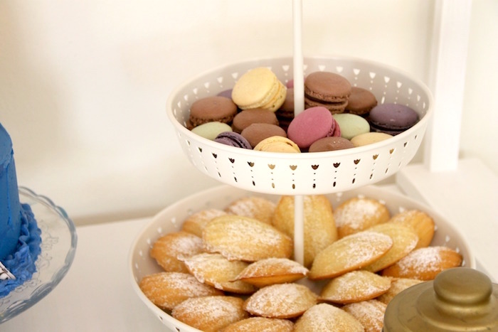 "Madeleine cookies and macarons from a ""Madeline in Paris"" Birthday Party on Kara's Party Ideas 