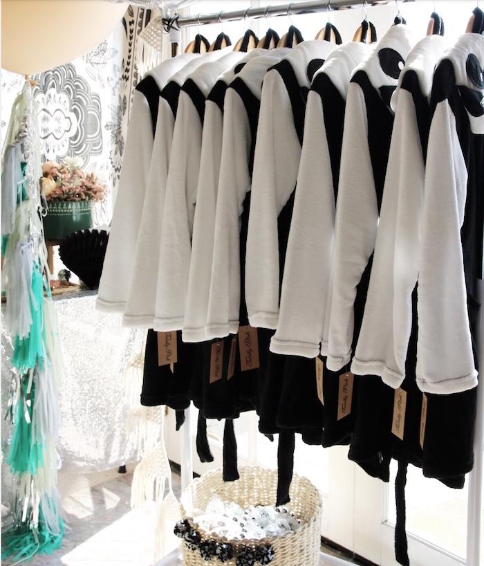 "Panda Bear robes from a ""Pandamonium"" Panda Disco Birthday Party on Kara's Party Ideas   KarasPartyIdeas.com (8)"