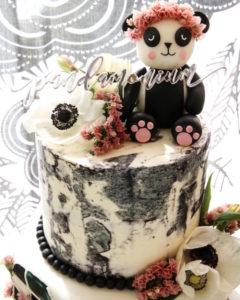 "Panda Bear Cake from a ""Pandamonium"" Panda Disco Birthday Party on Kara's Party Ideas | KarasPartyIdeas.com (15)"