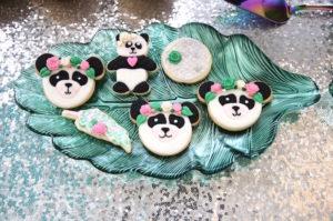 "Panda Bear Cookies from a ""Pandamonium"" Panda Disco Birthday Party on Kara's Party Ideas | KarasPartyIdeas.com (11)"