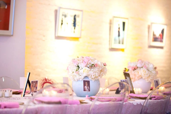 """Pretty in Pink"" Baby Shower on Kara's Party Ideas 