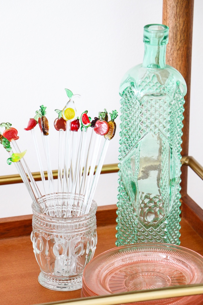 """Fruit drink stirrers from a """"Rosé All Day"""" Bridal Shower on Kara's Party Ideas 