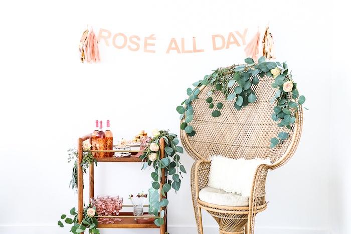 "Dessert spread & decor from a ""Rosé All Day"" Bridal Shower on Kara's Party Ideas | KarasPartyIdeas.com (22)"