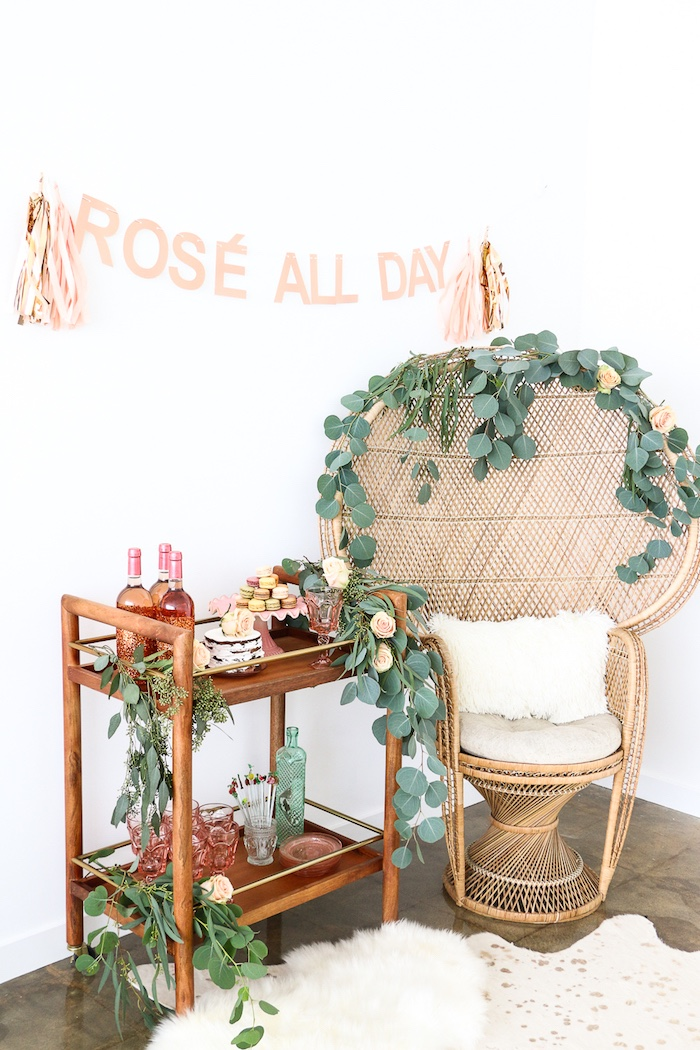 "Party spread from a ""Rosé All Day"" Bridal Shower on Kara's Party Ideas | KarasPartyIdeas.com (19)"