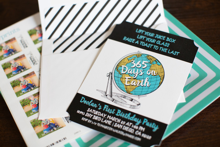 Earth Party Invite from a 365 Days on Earth First Birthday Party on Kara's Party Ideas | KarasPartyIdeas.com (23)