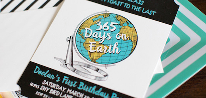 365 Days on Earth First Birthday Party on Kara's Party Ideas | KarasPartyIdeas.com (1)