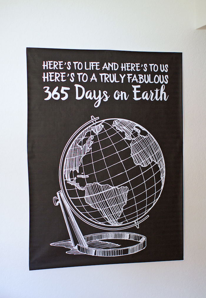 Earth party print from a 365 Days on Earth First Birthday Party on Kara's Party Ideas | KarasPartyIdeas.com (32)
