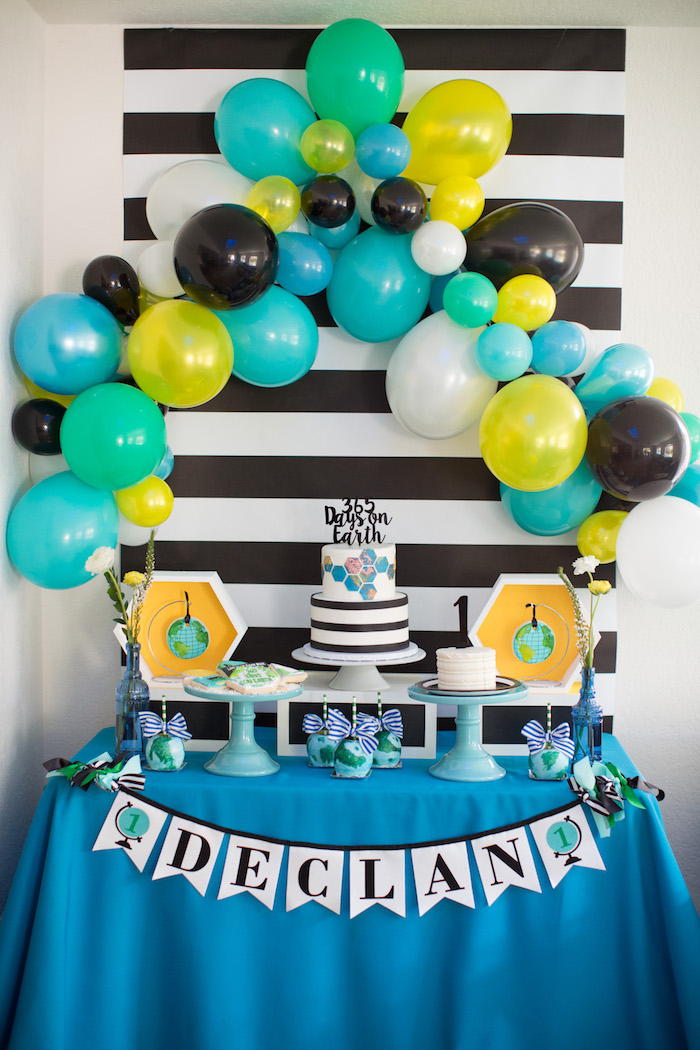 Kara S Party Ideas 365 Days On Earth First Birthday Party Kara S Party Ideas