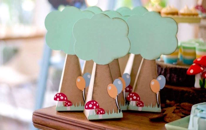 Tree box favors from anAdventurous Animal Birthday Party on Kara's Party Ideas | KarasPartyIdeas.com (16)