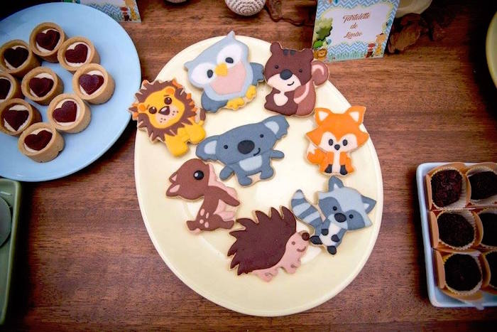 Wild animal cookies from an Adventurous Animal Birthday Party on Kara's Party Ideas | KarasPartyIdeas.com (9)
